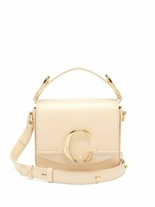 Chloé - The C Mini Leather And Suede Shoulder Bag - Womens - Cream