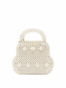 Shrimps - August Faux Pearl Embellished Bag - Womens - Cream