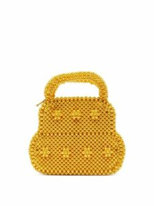 Shrimps - August Faux Pearl Top Handle Bag - Womens - Yellow