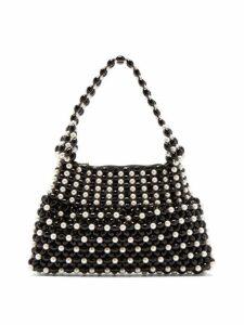 Shrimps - Quinn Faux Pearl Embellished Bag - Womens - Black White