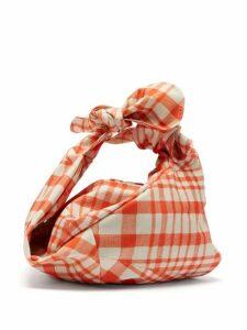 Simone Rocha - Wrap Baby Gingham Taffeta Bag - Womens - Red Multi