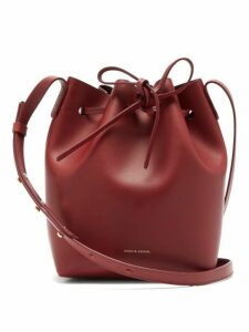 Mansur Gavriel - Mini Leather Bucket Bag - Womens - Burgundy