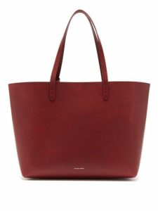 Mansur Gavriel - Large Leather Tote Bag - Womens - Burgundy