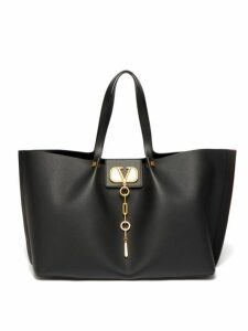 Valentino - Go Logo Escape Large Leather Tote Bag - Womens - Black