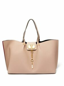 Valentino - Go Logo Escape Large Leather Tote Bag - Womens - Nude