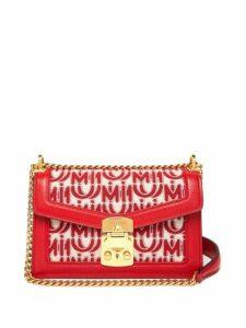 Miu Miu - Confidential Logo Jacquard Shoulder Bag - Womens - Red White
