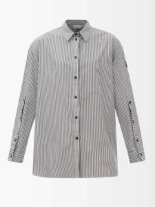 Prada - Zip Pocket Bowling Bag - Womens - Black Red