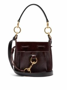 See By Chloé - Tony Small Python Effect Leather Bucket Bag - Womens - Burgundy