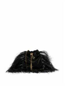 Rosantica By Michela Panero - Mademoiselle Feathered Velvet Cross Body Bag - Womens - Black