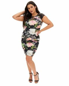 Joanna Hope Scuba Dress with Lace
