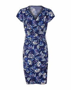 Yumi Curves Exotic Wrap Dress