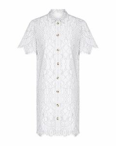 Yumi Curves Corded Lace Shirt Dress