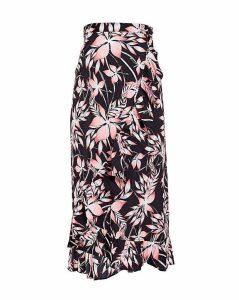 Blue Vanilla Curve Floral Skirt