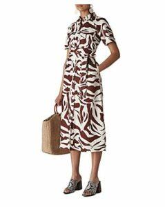 Whistles Graphic Zebra-Printed Shirt Dress