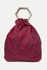 Kayu - + Net Sustain Kamber Printed Cotton-voile Tote - Red