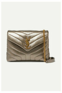 SAINT LAURENT - Loulou Metallic Quilted Leather Shoulder Bag - Gold