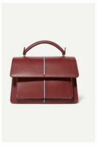 Marni - Attache Leather Tote - Burgundy