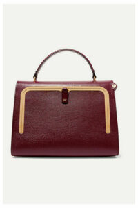 Anya Hindmarch - Postbox Textured-leather Tote - Burgundy