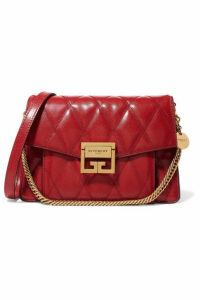 Givenchy - Gv3 Small Quilted Textured-leather Shoulder Bag - One size