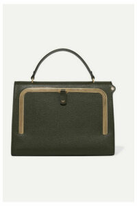 Anya Hindmarch - Postbox Textured-leather Tote - Army green
