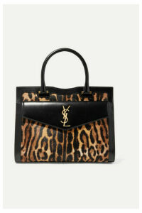 SAINT LAURENT - Uptown East West Medium Leopard-print Calf Hair And Leather Tote - Leopard print