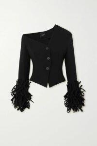 Suryo - Bucket Of Ice Beaded Metallic Crocheted Tote - Silver