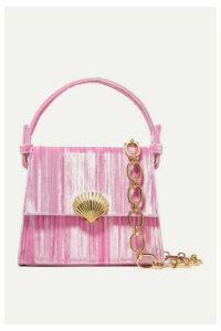 RIXO - Jemima Plissé-velvet Shoulder Bag - Pink