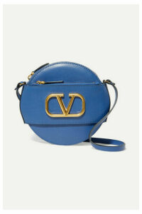 Valentino - Valentino Garavani Vlogo Leather Shoulder Bag - Blue