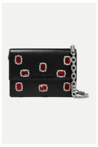 Prada - Jewel Small Crystal-embellished Leather Shoulder Bag - Black