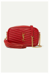 SAINT LAURENT - Lou Mini Quilted Textured-leather Shoulder Bag - One size