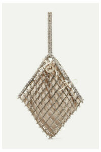 Rosantica - Honore Crystal-embellished Gold-tone And Velvet Tote - One size