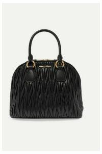 Miu Miu - Medium Matelassé Leather Tote - Black