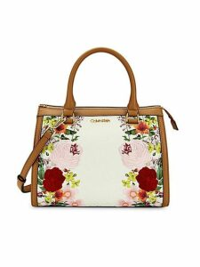 Mercy Signature Monogram Floral Satchel