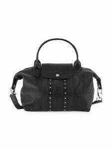 Small Le Pliage Rock Leather Top Handle Bag