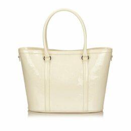 Dior White Patent Leather Handbag