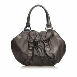 Prada Black Ruffled Leather Handbag
