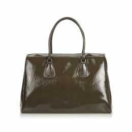 Prada Brown Patent Leather Handbag