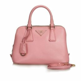 Prada Pink Saffiano Lux Promenade Satchel