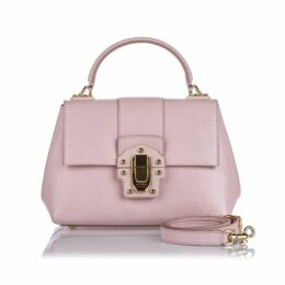 Dolce & Gabbana Pink Leather Lucia Satchel