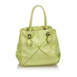 Bottega Veneta Green Leather Handbag