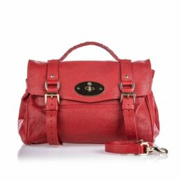 Mulberry Red Leather Alexa Satchel