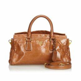 Prada Brown Leather Satchel