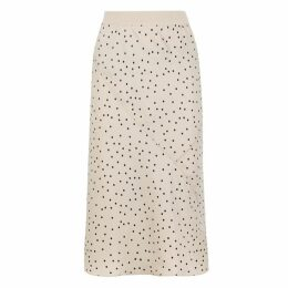 ATM Anthony Thomas Melillo Polka-dot Silk Midi Skirt