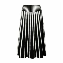 MSGM Monochrome Wool-blend Midi Skirt