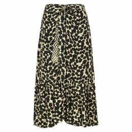 Proenza Schouler Pale Yellow Printed Midi Skirt