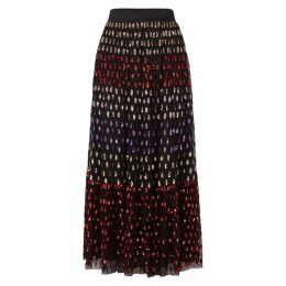 Temperley Wendy Sequin-embellished Tulle Midi Skirt