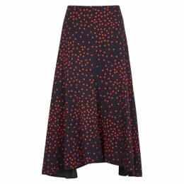 Stella McCartney Aldgate Printed Stretch-cady Midi Skirt
