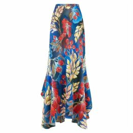Peter Pilotto Floral-print Hammered Silk Maxi Skirt