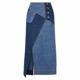Rejina Pyo Astrid Patchwork Denim Skirt