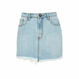 Oneteaspoon 2020 Light Blue Denim Mini Skirt